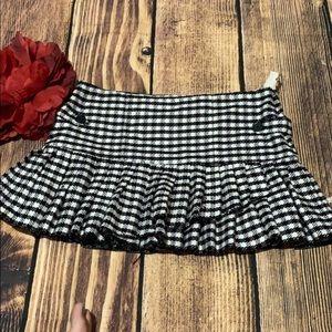 Roxy Checkered Black Mini Skirt